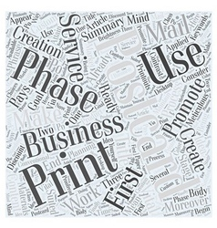 How to make promotional postcards work word cloud vector