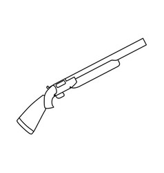 Isolated shotgun weapon vector