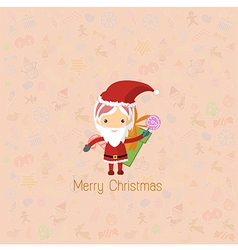 Santa girl claus for christmas card vector
