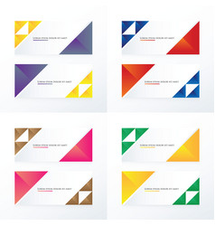 2 color triangle banner vector