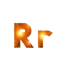 Set of letters firework r vector