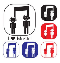 Creative music note sign icon vector