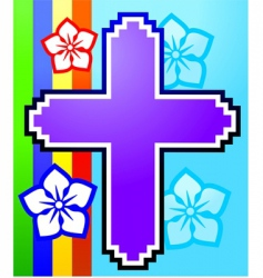 gaming cross vector image