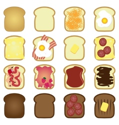 Set of toasts vector