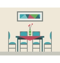 Dining table for date vector