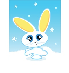 holiday bunny vector image