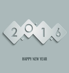 Abstract cube new years wishes template vector