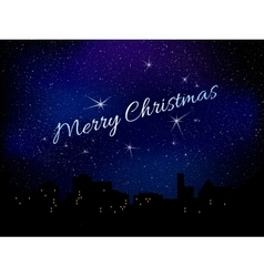 Merry christmas star background vector