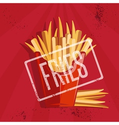 Fast food with fried potatoes vector
