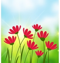 Sunny day background vector