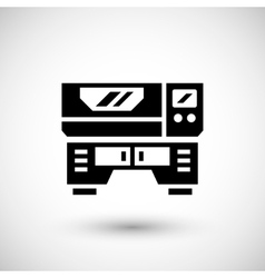 Laser machine icon vector