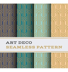 Art Deco seamless pattern 05 vector image