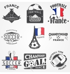 Football championship set soccer time detailed vector