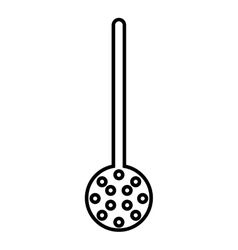 Fried spoon isolated icon design vector