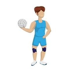 Volleyball and cartoon boy icon sport concept vector