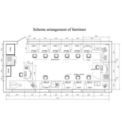 Architectural scheme arrangement of furniture vector