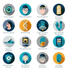 Biometric authentication icons vector