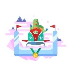 Bobsleigh winter sport vector image