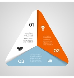 circle triangle infographic Template for vector image vector image