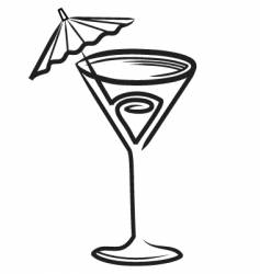 cocktail sketch vector image vector image