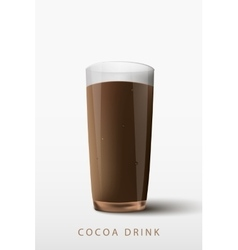 cocoa drink a glass vector image vector image