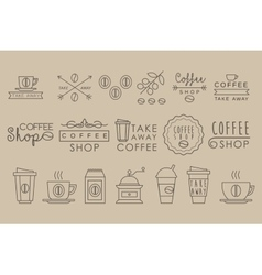 Coffee Set Linear vector image