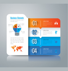 folder infographics design with 4 options vector image