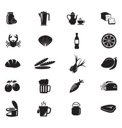 Food solid icons 11 vector