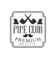 Gentelmen crossed pipes premium quality smoking vector