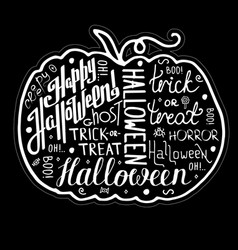 greeting card happy halloween vector image