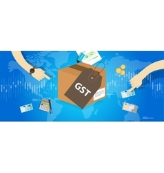GST Good and Services Tax concept vector image vector image