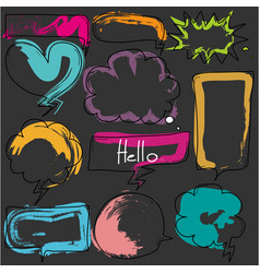 hand drawn colorful bubbles set vector image vector image