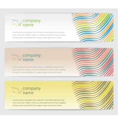 Invitation cards with lines set vector image