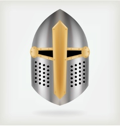 Iron helmet of the medieval knight vector image