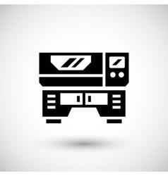 Laser machine icon vector