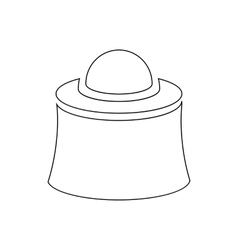 Mask beekeeper icon outline style vector