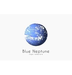 Neptune logo Planet logo Comic logo Space logo vector image vector image