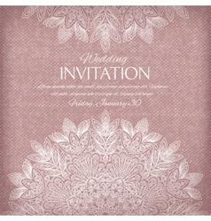Ornamental invitation silver and pastel colors vector image vector image