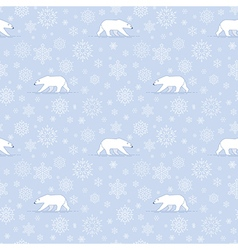 Pattern snow polarbear vector