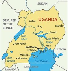 Republic of uganda - map vector