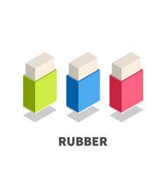 rubber eraser icon symbol vector image vector image