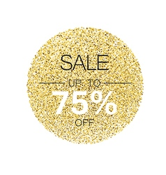 Sale tag template Circle with gold glitter vector image