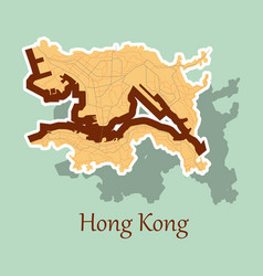 stickers in form of hongkong vector image