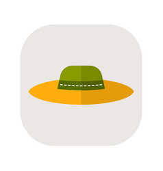 Sun hat protective clothing flat icon object of vector