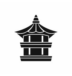Traditional korean pagoda icon simple style vector