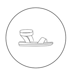Woman sandals icon in outline style isolated on vector