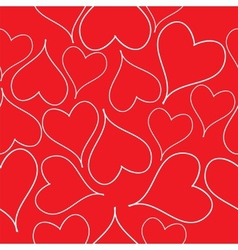 Seamless pattern with read hearts vector