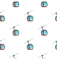 Funicular icon in cartoon style isolated on white vector