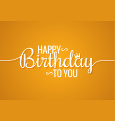 Birthday banner logo design background vector