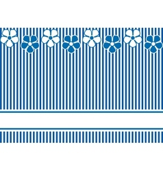 Background with blue stripes and flowers vector